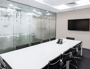 office meeting room sparkles as it is just been cleaned my a professional cleaning crew