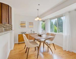 sanitized kitchen sparkles with shiny hardwood floors