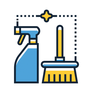 cleaning service icon for header and footer