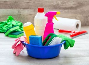 Cleaning Service Supplies used to clean